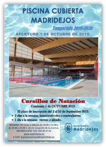 Apertura piscina cubierta