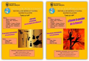 matricula escuela musica y danza
