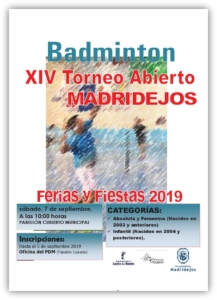 torneo abierto badminton