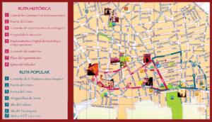 mapa rutas urbanas madridejos