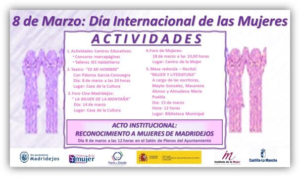 dia internacional de la mujer madridejos