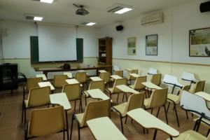 interior aula natualeza madridejos