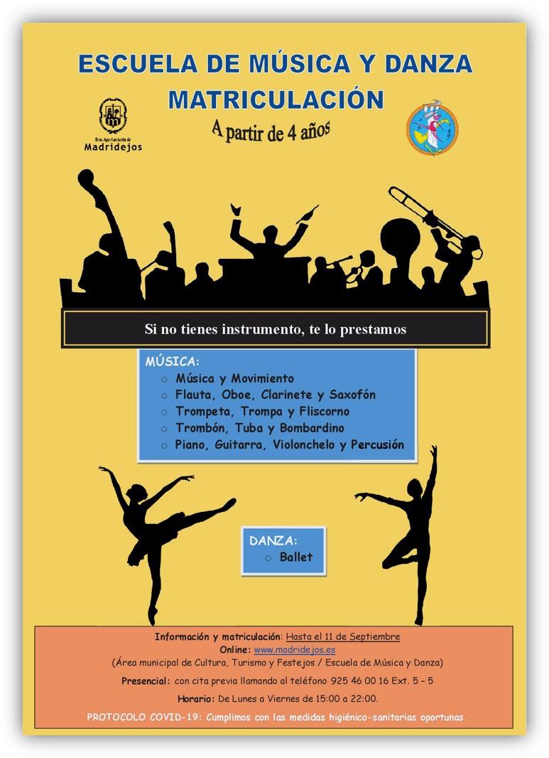 matricula musica y danza madridejos