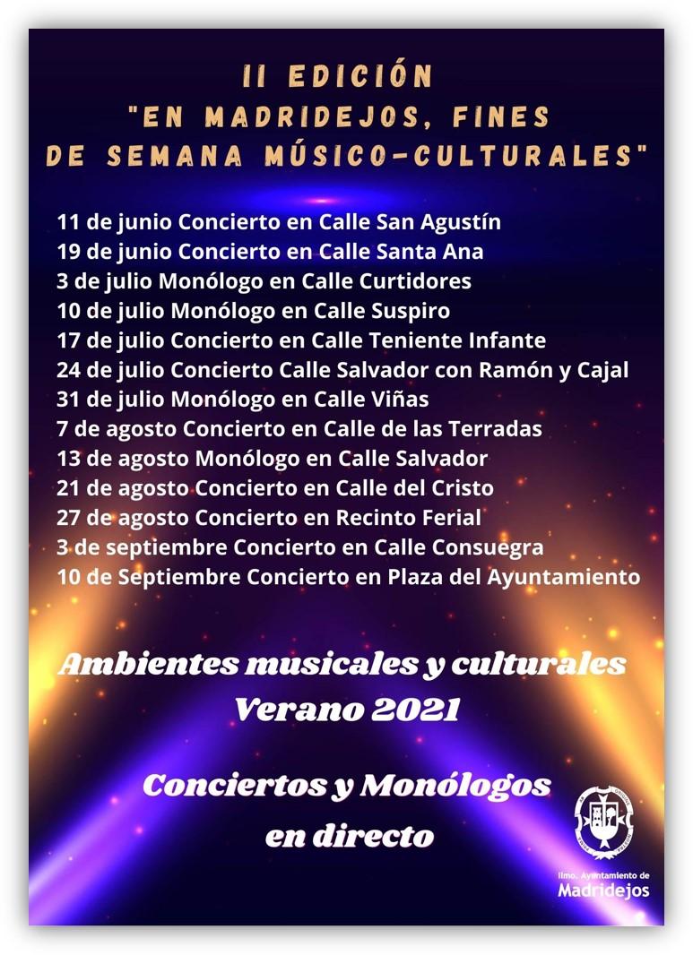 fines de semana musico cultural madridejos