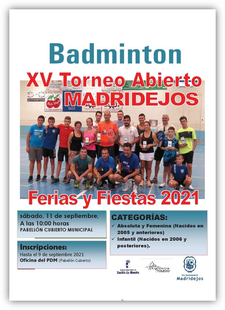 torneo badminton feria madridejos