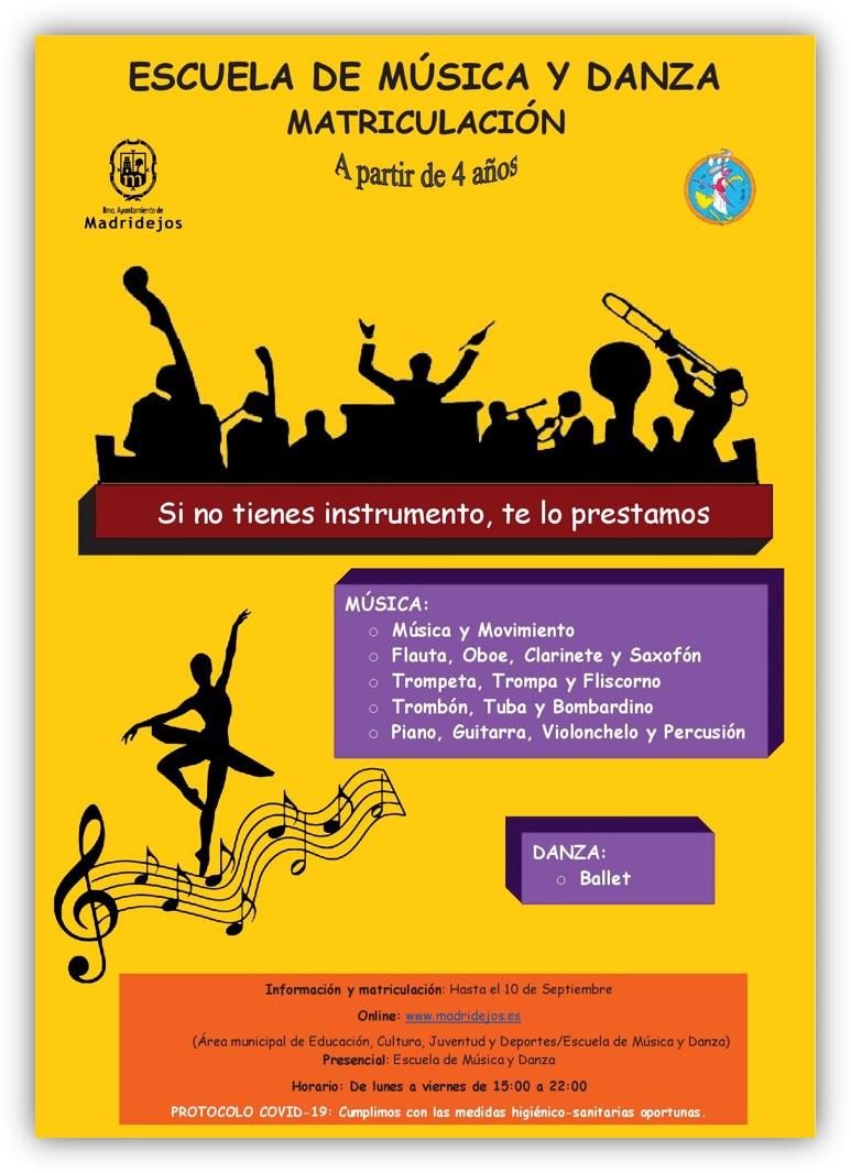 matricula escuela musica y danza madridejos